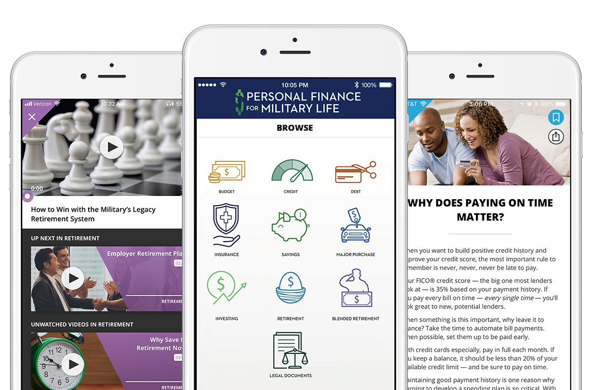 App Personal Finance for Military Life
